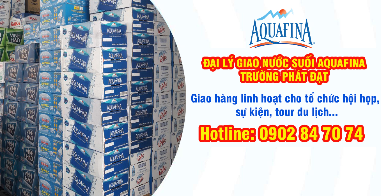 Đại lý giao thùng nước suối Aquafina